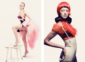 Christine Kelch - Styling  for AVEDA  photo by Till Becker
